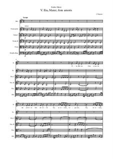 Stabat Mater: No.5 Eia, Mater, fons amoris by Jehan Vergnaye