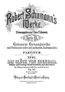 Das Glück von Edenhall (Charm of Edenhall), Op.143: Full score by Robert Schumann