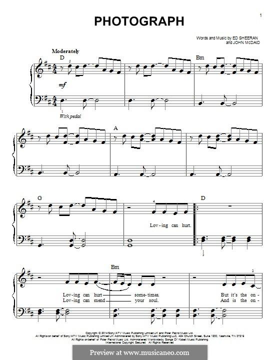 Photograph: For piano by Ed Sheeran, John McDaid