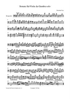 Sonate für Viola da gamba solo in a moll: Sonate für Viola da gamba solo in a moll by Bernhard Vass