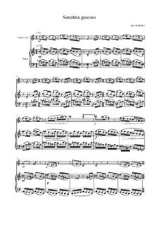 Sonatina guicoso for clarinet and piano: Sonatina guicoso for clarinet and piano by Ihor Haidenko