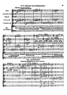 Der vierjährige Posten (The Four-Year Post), D.190: No.6 March and Soldier's Choir by Franz Schubert
