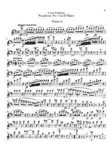 Symphony No.3 in D Major, D.200: Flutes parts by Franz Schubert