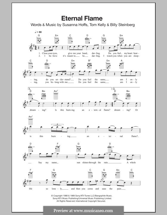 Eternal Flame: For ukulele by Billy Steinberg, Susanna Hoffs, Tom Kelly