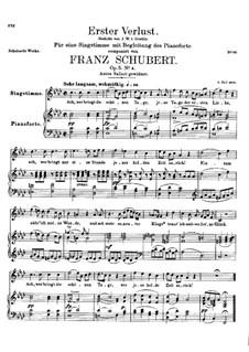 Erster Verlust (First Loss), D.226 Op.5 No.4: For high voice and piano by Franz Schubert