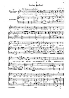 Erster Verlust (First Loss), D.226 Op.5 No.4: For low voice and piano by Franz Schubert