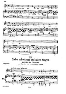 Claudine von Villa Bella, D.239: No.6 Arietta, for voice and piano by Franz Schubert