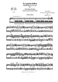 La gazza ladra (The Thieving Magpie): Overture, for solo piano, CSGR1 by Gioacchino Rossini
