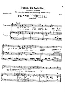 Furcht der Geliebten (An Cidli), D.285: Second version by Franz Schubert