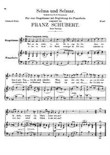 Selma and Selmar, D.286: First version by Franz Schubert