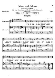 Selma and Selmar, D.286: Second version by Franz Schubert