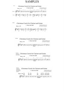 Deck the Hall: For clarinet and guitar by folklore
