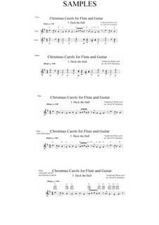 Deck the Hall: For flute and guitar by folklore