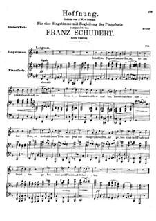 Hoffnung (Hope), D.295: First version by Franz Schubert