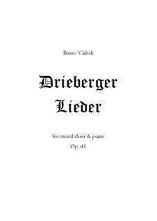 Drieberger Lieder, Op.41: Piano-vocal score by Bruno Vlahek