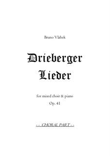 Drieberger Lieder, Op.41: Choral part by Bruno Vlahek