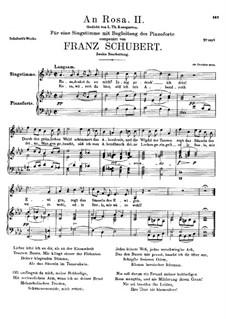 An Rosa (To Rosa), D.316: Second edition by Franz Schubert