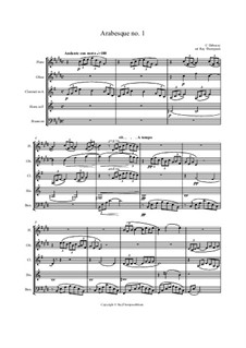 Two Arabesque, L.66: Arabesque No.1, for wind quintet by Claude Debussy
