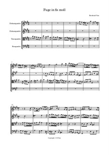 Fuge in fis moll für Gamben Consort: Fuge in fis moll für Gamben Consort by Bernhard Vass