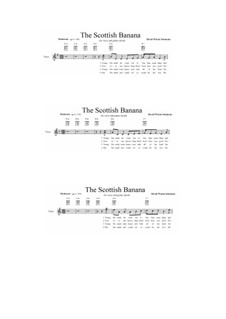 No.6 The Scottish banana: For voice and guitar chords by David W Solomons