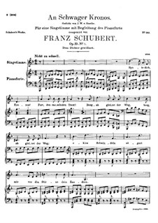 An Schwager Kronos (To Coachman Chronos), D.369 Op.19 No.1: For high voice and piano by Franz Schubert