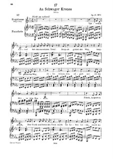 An Schwager Kronos (To Coachman Chronos), D.369 Op.19 No.1: For voice and piano by Franz Schubert