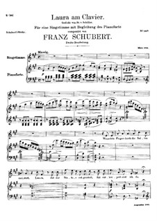 Laura at the Piano, D.388: Second version by Franz Schubert