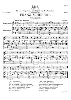 Song for Voice and Piano, D.403: Second version by Franz Schubert