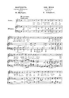 No.9 Ihr Bild (Her Portrait): Piano-vocal score by Franz Schubert