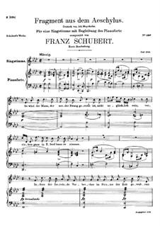 Fragment from Aeschylus, D.450: First version by Franz Schubert