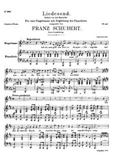 Liedesend, D.473: First version by Franz Schubert