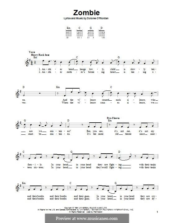 Guitar guitar chords zombie cranberries : Guitar : guitar tabs zombie cranberries Guitar Tabs also Guitar ...
