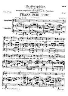 Harfenspieler III (The Harper's Song III), D.480 Op.12 No.3: Second version by Franz Schubert