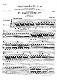 Gruppe aus dem Tartarus (Group from Hades), D.583 Op.24 No.1: Piano-vocal score by Franz Schubert