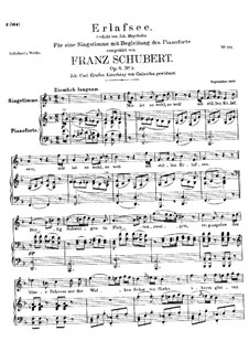 Erlafsee (Lake Erlaf), D.586 Op.8 No.3: For high voice and piano by Franz Schubert