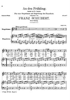 An den Frühling (To Spring), D.587: First version by Franz Schubert