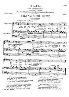 Thekla. A Spirit Voice, D.595 Op.88 No.2: First version by Franz Schubert