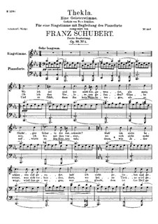 Thekla. A Spirit Voice, D.595 Op.88 No.2: Second version by Franz Schubert