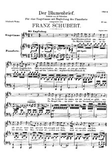Der Blumenbrief (The Message of Flowers), D.622: For high voice and piano by Franz Schubert