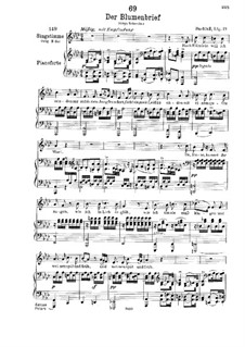 Der Blumenbrief (The Message of Flowers), D.622: For low voice and piano by Franz Schubert