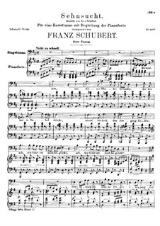 Sehnsucht (Longing), D.636 Op.39: First version by Franz Schubert