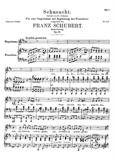 Sehnsucht (Longing), D.636 Op.39: Second version by Franz Schubert