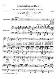 Der Jüngling am Bache (The Youth by the Brook), D.638 Op.87 No.3: First version by Franz Schubert