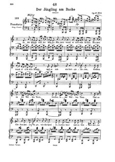 Der Jüngling am Bache (The Youth by the Brook), D.638 Op.87 No.3: Piano-vocal score by Franz Schubert