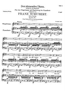 Der zürnenden Diana (To Diana in Her Wrath), D.707 Op.36 No.1: Second version by Franz Schubert
