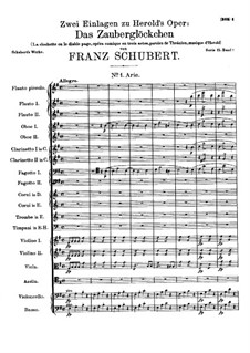 Aria and Duet to Opera 'La Clochette' by Hérold, D.723: No.1 Aria by Franz Schubert