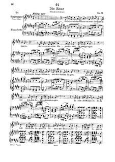 The Rose, D.745 Op.73: Piano-vocal score by Franz Schubert