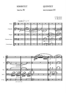 Quintet: Movement IV - score II by Alexander Bystrov