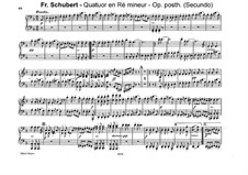 String Quartet No.14 in D Minor 'Death and the Maiden', D.810: Movement IV. Arrangement for piano four hands by Franz Schubert