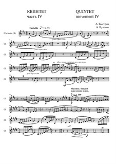 Quintet: Movement IV- part of clarinet (B) by Alexander Bystrov